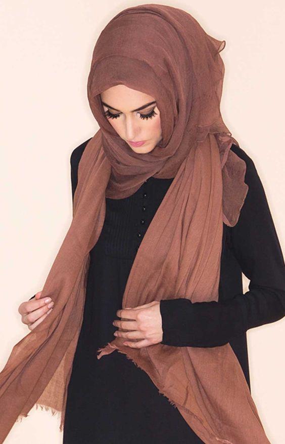 Pink Coffee Chiffon Silk Hijab