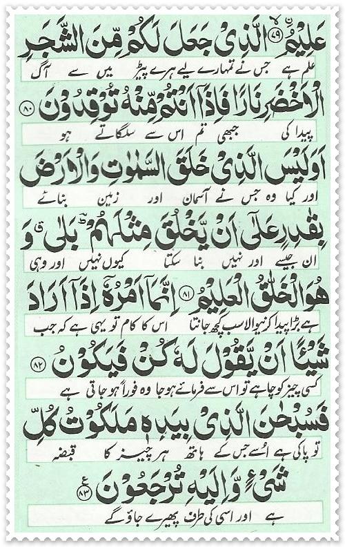 surah yaseen 16